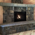 Acadia Fireplace Mantel with New England Veneer Stone in Ashlar
