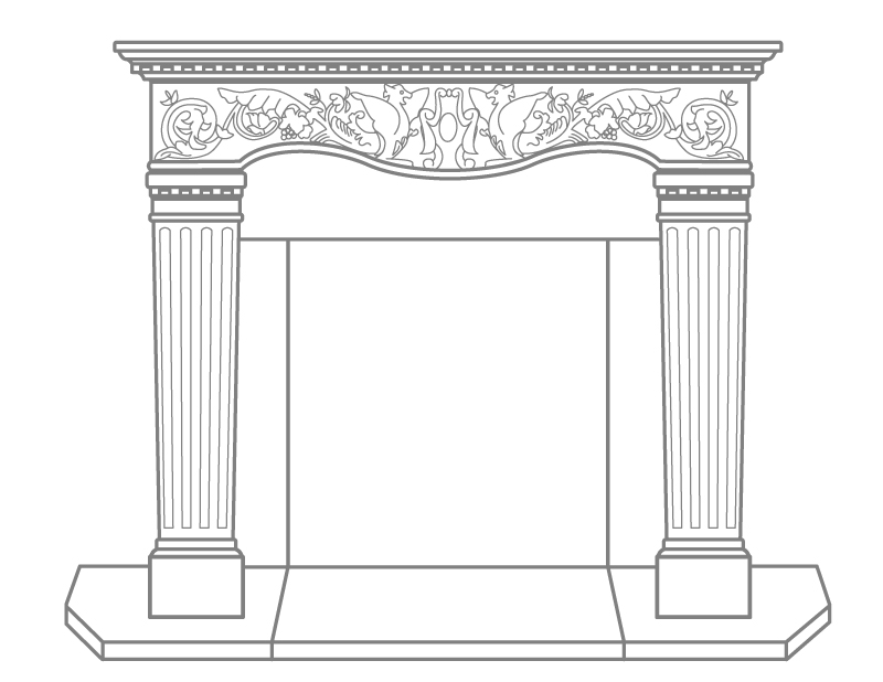 Fireplace Design fireplace drawing : Vincenza Fireplace Mantel - Cornerstone Architectural Products LLC