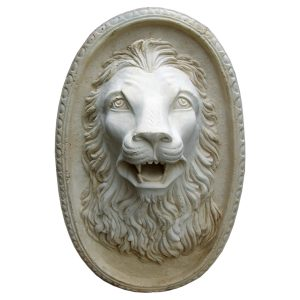 Lion Cast Stone Plaque