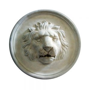 Lion Cast Stone Medallion