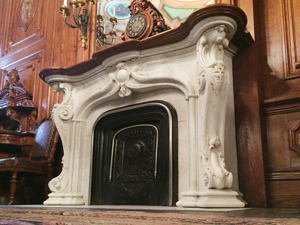 Dining Room Fireplace Mantel at the Victoria Manion